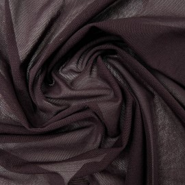Au mètre Tissu maille polyamide prune en 160cm n°974