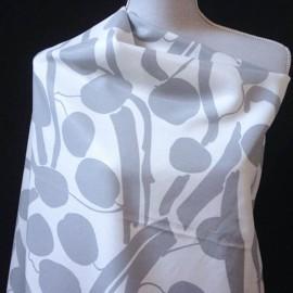 Coupon Coton & viscose gris blanc 1m70 en 155cm n° 517