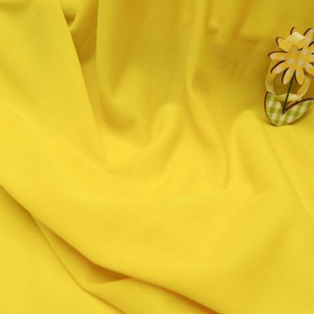 Au mètre maille lycra polyamide jaune en 150 cm