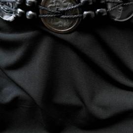 Au mètre maille lycra polyamide noir en 150 cm