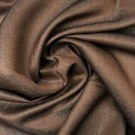 Coupon Haute Couture Jacquard mini chevrons marron 95cm en 150cm n°1011
