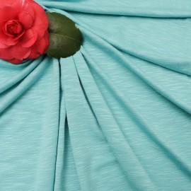 Au mètre Jersey coton flammé vert d'eau en 150 cm n°1018