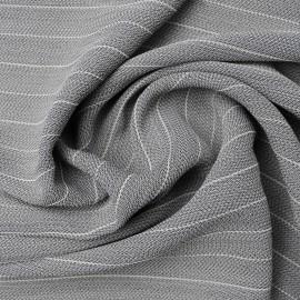 Coupon viscose & coton gris rayé 1m90 en 135cm n°1019