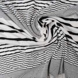 Coupon Maille marin géométrique noir et blanc 1m70 en 140cm n°907