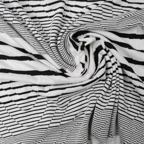 Coupon Maille marin géométrique en 140cm n°907