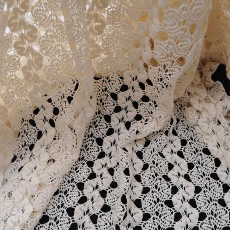 Au mètre Coton crochet écru en 150cm n°1068