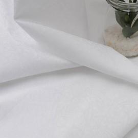 Au mètre coton léger blanc damassé en 125cm n°1066