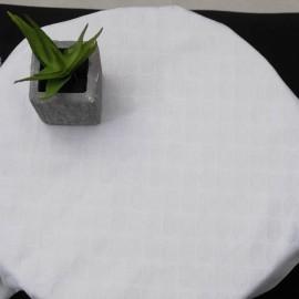 Au mètre toile coton blanc à pastilles en relief en 130cm n°1067