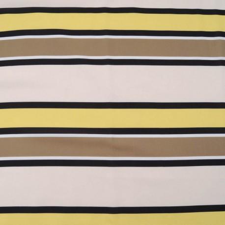 Au mètre fin polyester à larges rayures en 150cm n°1089