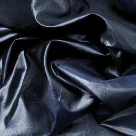 Au mètre Doublure soie brillante HAUTE COUTURE bleu nuit en 147cm