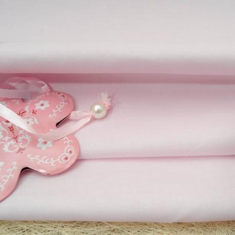 Voile de coton rose pâle au mètre en 145cm