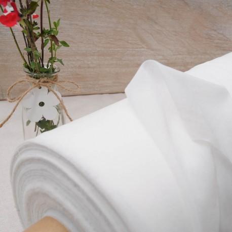 Thermocollant tissé fin blanc en 150cm n°10149