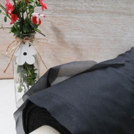 Thermocollant au mètre tissé fin noir en 150cm n°10150
