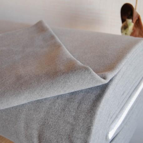 Tissu Caban Gris clair au mètre en 150cm n°10163