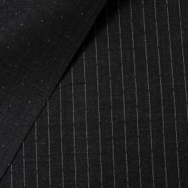 Fin Lainage gris foncé réversible à rayures ou à pois en 150cm n°477
