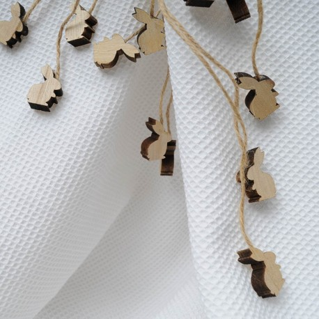 Tissu Nid d'abeille blanc 100% Coton en 152cm n°10179
