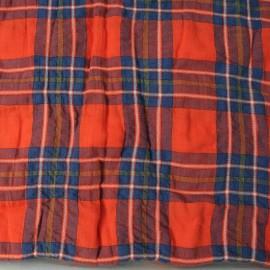 Coupon Coton écossais rouge n°511 2m30 en 150cm