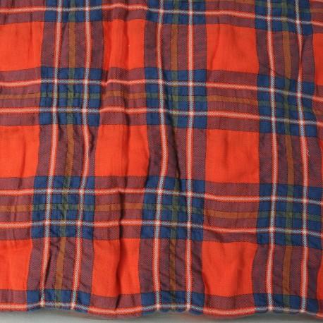 Coton écossais rouge n°511: 2m30 en 150cm