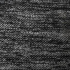 Au mètre, Polyester & Laine natté noir et gris en 160cm n°10202