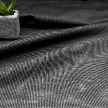 Au mètre jersey lourd rayé gris foncé en 150cm n°10231