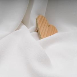 au mètre Soie crêpée ivoire en 130cm n°518