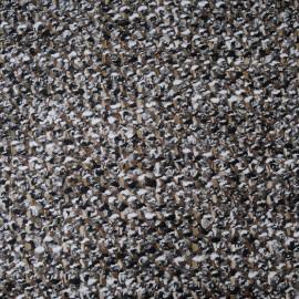 Au mètre lainage Haut de gamme marron noir blanc en 145cm n°10236