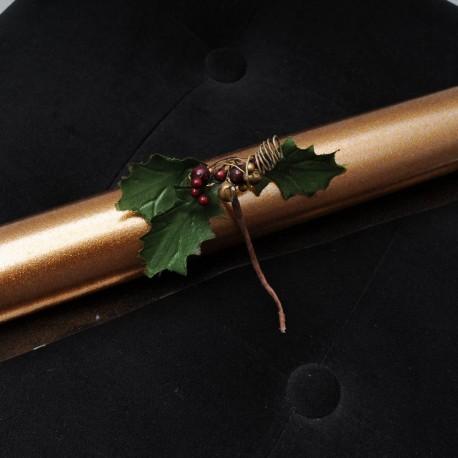 Rouleau de feuille plastifiée paillettes dorées 50cm x 150cm à 5€