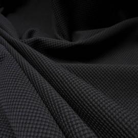 Coupon noir polycoton texturé alvéoles 1m05 en 155cm n°10249