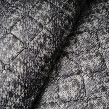 Doudoune matelassée réversible gris, noir , bleu en 145cm n°10218