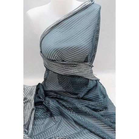 """Tissu """"filet"""" bleu denim en 150cm bleu denim"""
