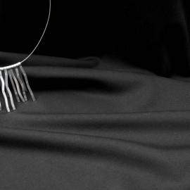 Au mètre Viscose polyester noir en 150cm n°10275