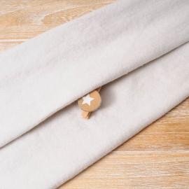 Au mètre molleton polyester beige en 165cm n°10277
