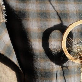 Coton reversible type écossais n°379 en 145cm