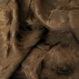 Tissu Dévoré de soie n°265 en 140cm kaki clair
