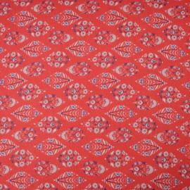 Coupon Voile Crêpe viscose rouge Haute Couture 90cm en 150cm n°10300
