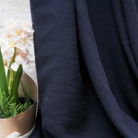 Au mètre viscose Haute Couture bleu marine en 155cm n°10301
