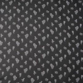 Au mètre voile cactus polyester noir en 150cm n°10295