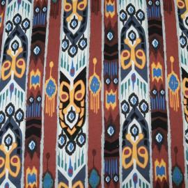 Au mètre Coton Haute Couture tribal à bandes en 148cm n°10304