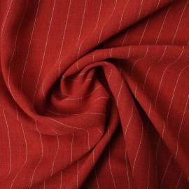 Coupon Crêpe Polycoton rouge rayé blanc 1m90 en 150cm n°794