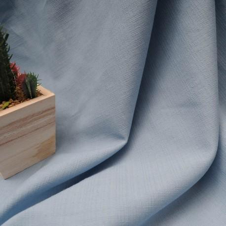 Au mètre tissu coton bleu ciel texturé en 145cm n°10317