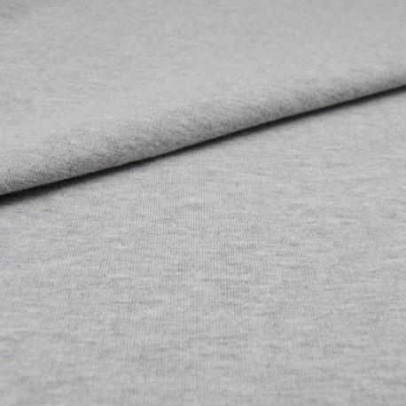 Au mètre, molleton coton bouclette chiné gris en 140cm n°10327
