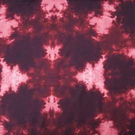 Au mètre polyester fluide prune et rose en 150cm n°10344