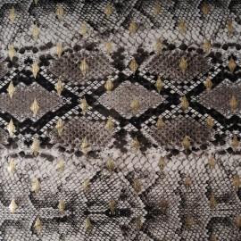 Au mètre jersey viscose gris marronné avec losange doré en 150cm n° 10335