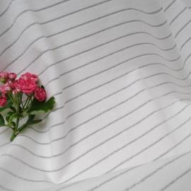 Au mètre Jersey Coton blanc lurex argent en 150cm n°10350