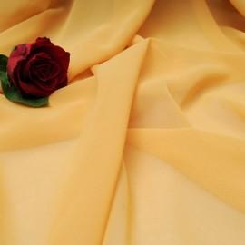 Au mètre voile polyester moutarde foncé en 150cm n°10355