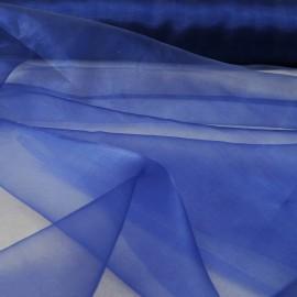 Organza bleu roi au mètre en 150cm n°10369