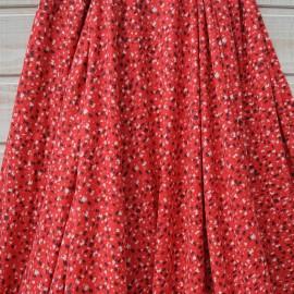 Au mètre jersey viscose fond rouge, graffitis noir, blanc et rose en 145cm n°10403