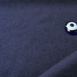 Au mètre éponge fine rase Marine Polyester et Coton en 160cm n°10407