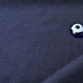 coupon éponge fine rase Marine Polyester et Coton 70cm en 160cm n°10407