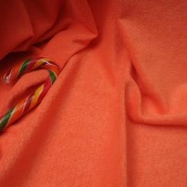 Au mètre éponge fine rase Corail Polyester et Coton en 160cm n°10406